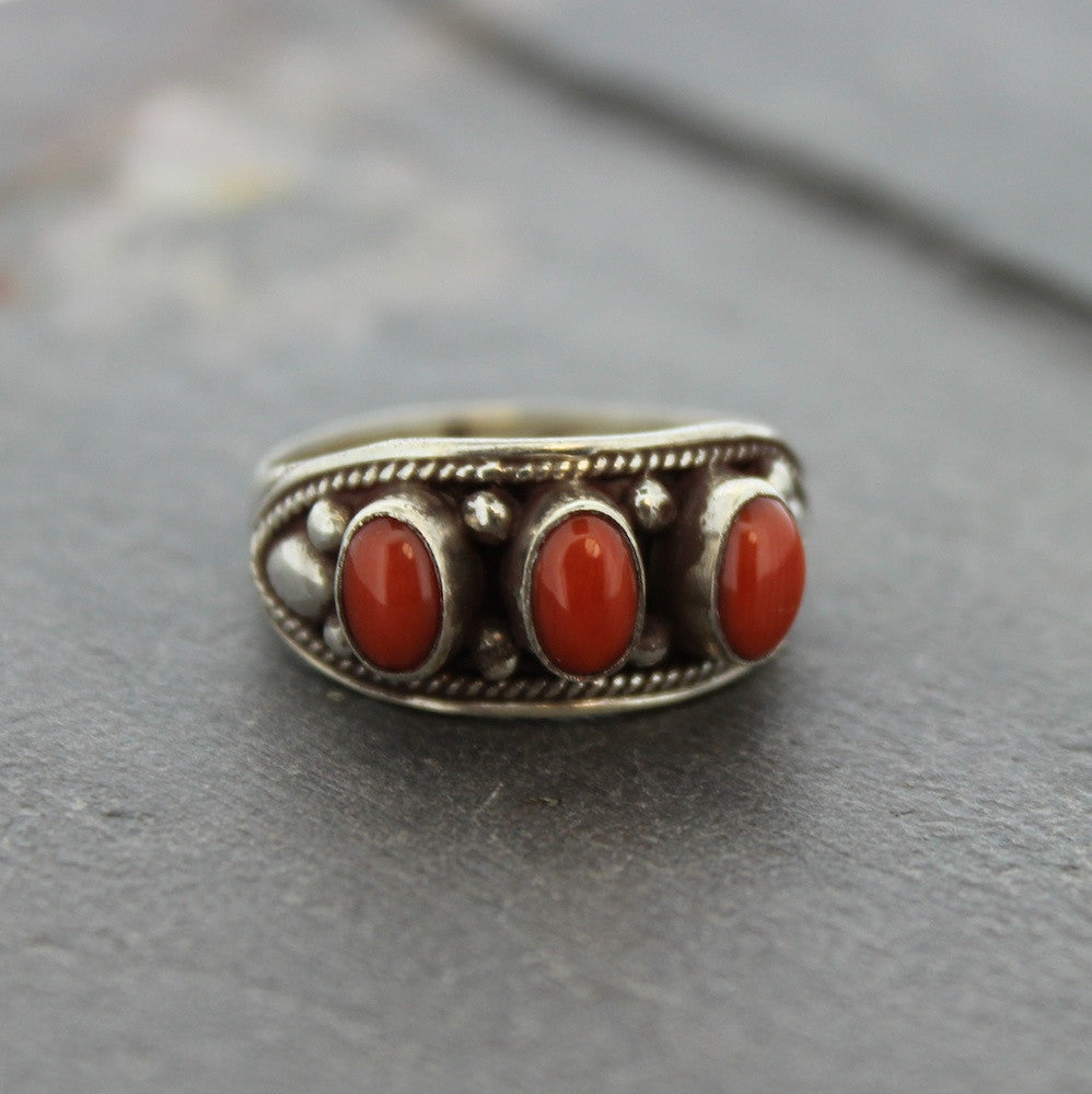 Three Corals Ring
