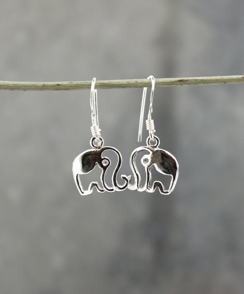 Elephant Cut-out Earrings