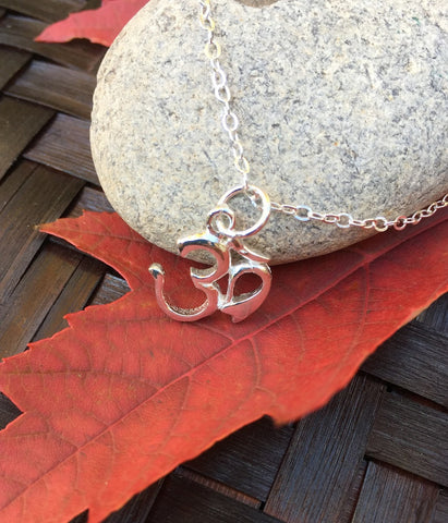 Sanskrit OM Silver Necklace