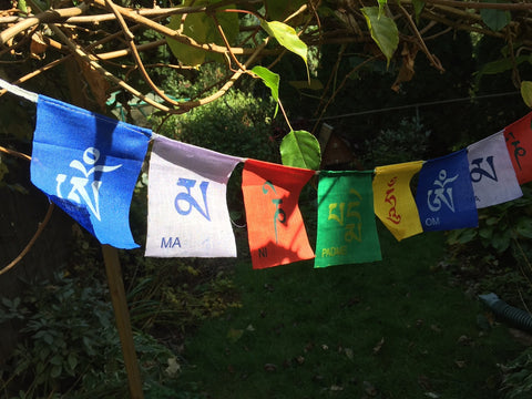 Small String of Om Mani Padme Hung Flags