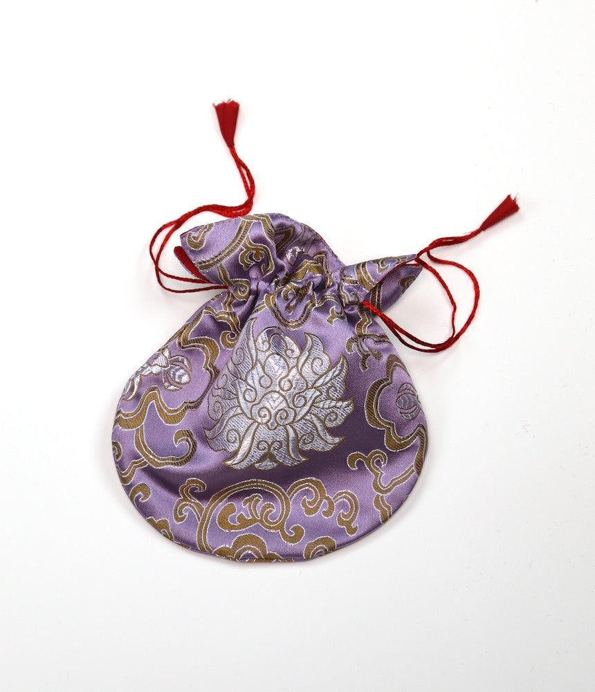 Lavender Silk Mala Bag