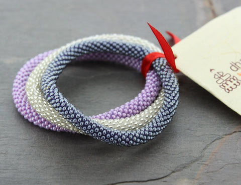 Set of three Nepal Roll-On Bracelets for Charity
