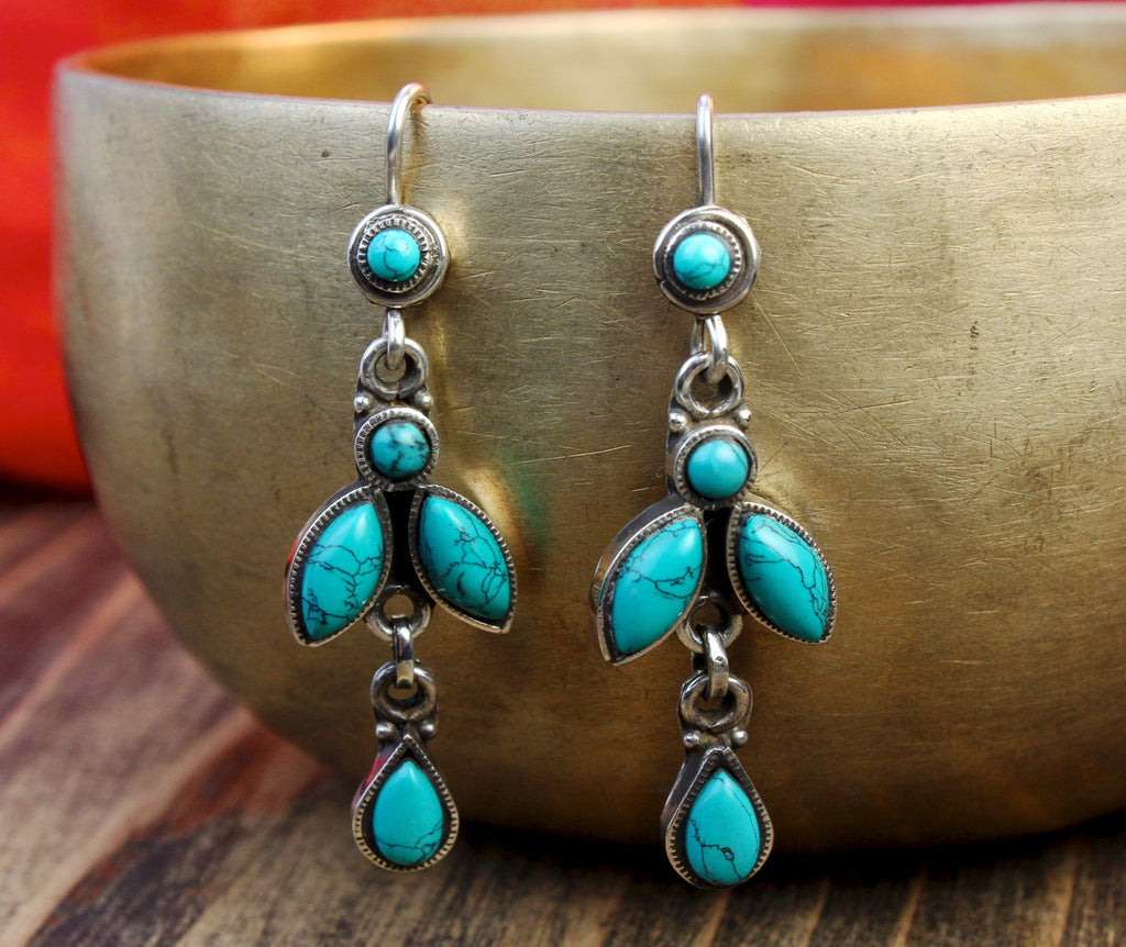 Limited Edition Turquoise Chandelier Earrings