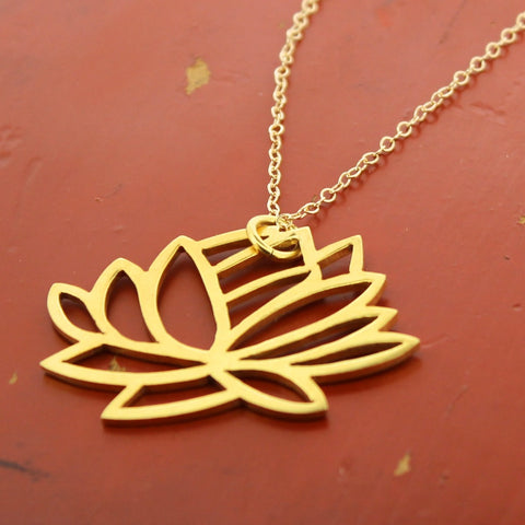 Tibetan Gold Lotus Necklace