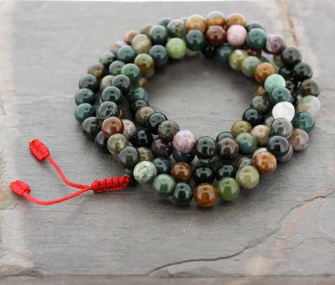 Fancy Jasper Tibetan 108 Bead Mala