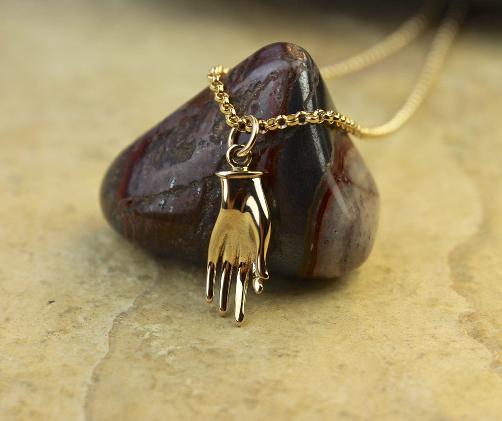 Gold Mudra Necklace