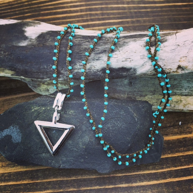 Sacred Geometry Triangle Necklace