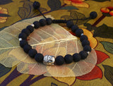 Calming Onyx and Buddha Wrist Mala