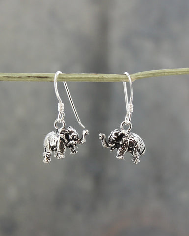 Natural Elephant Earrings