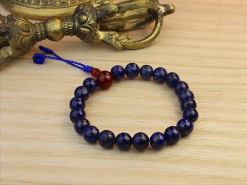 Life Force Lapis Stretchy Wrist Mala