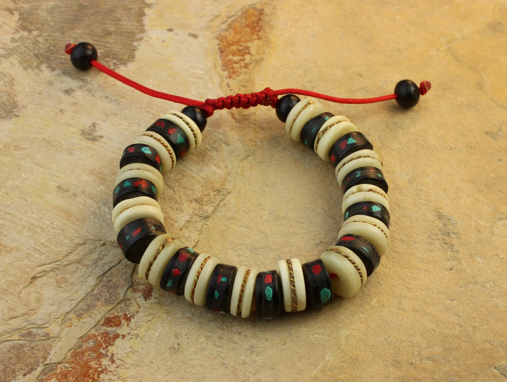 Traditional Bone Wrist Mala