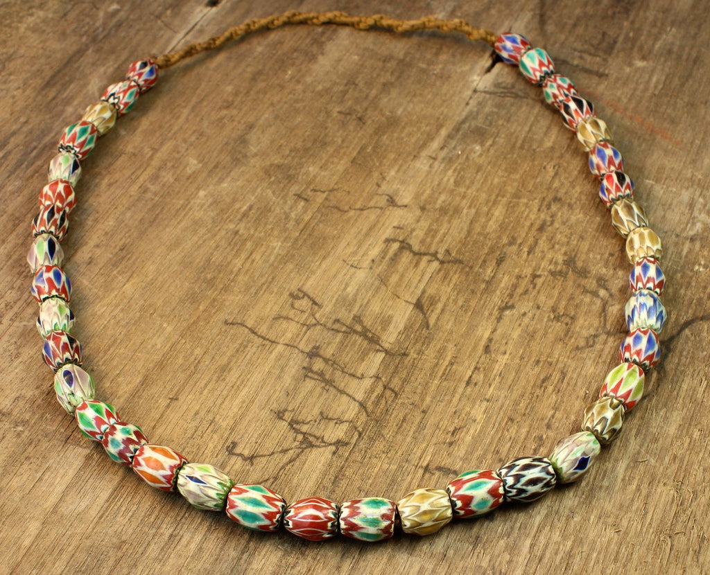 Earthly Balance Glass Bead Necklace