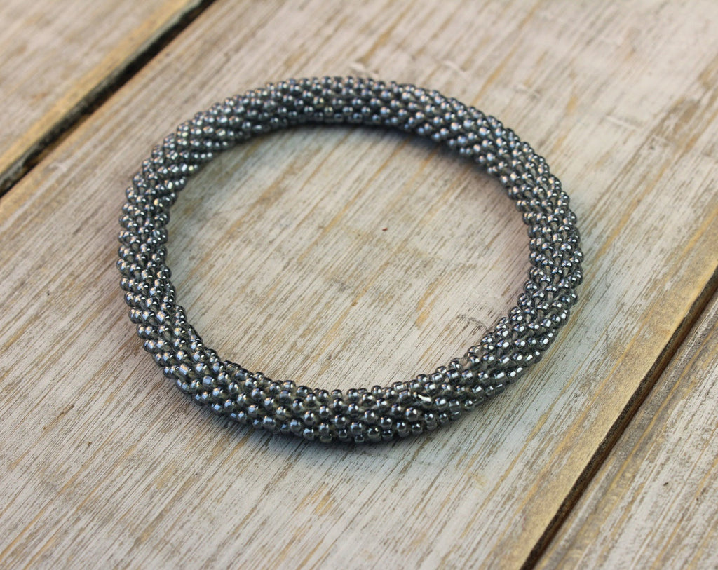 Silver Nepalese Roll-On Bracelet