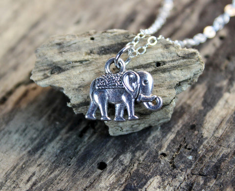 Tiny Bali Elephant Necklace