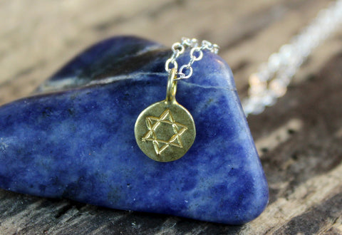Tiny Star of David Necklace
