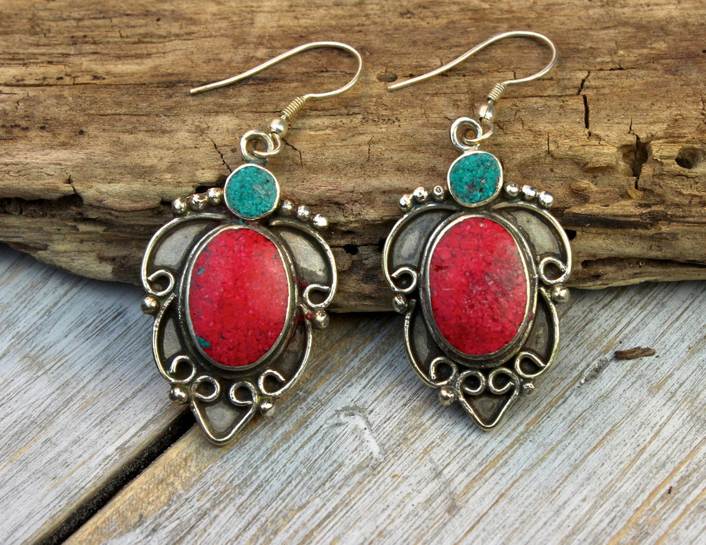 Energy of Life Coral Earrings
