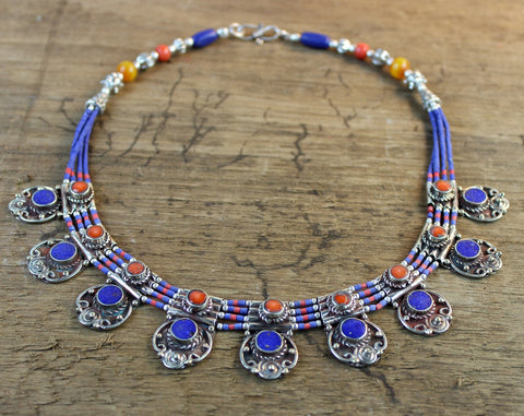 Lukla Lapis Necklace