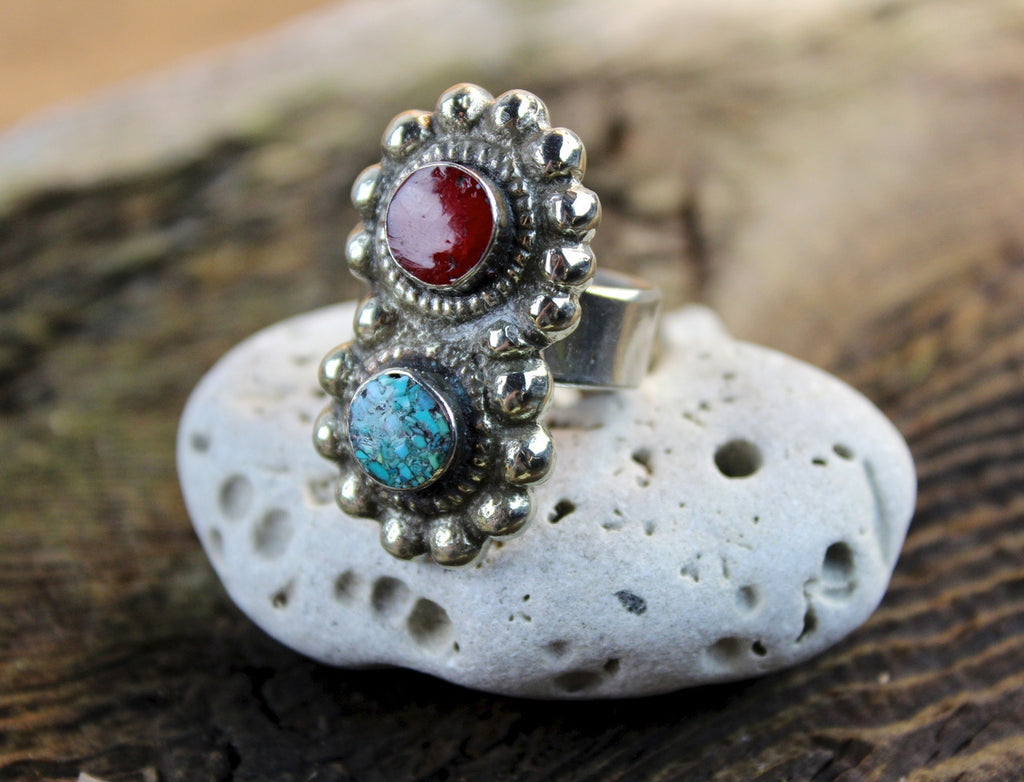 Adjustable Dual Stone Ring
