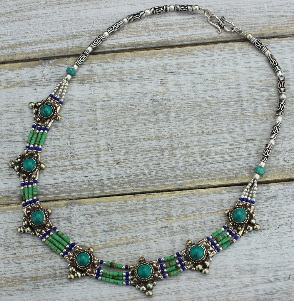 Turquoise and Lapis Necklace
