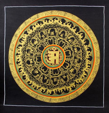 Touched in Gold Mandala Thangka