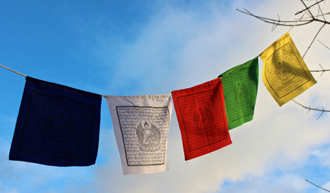 Medicine Buddha Cotton Prayer Flags