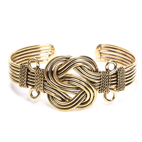 Brass Eternal Knot Bracelet