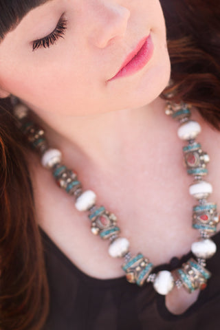 Naga Shell Statement Necklace