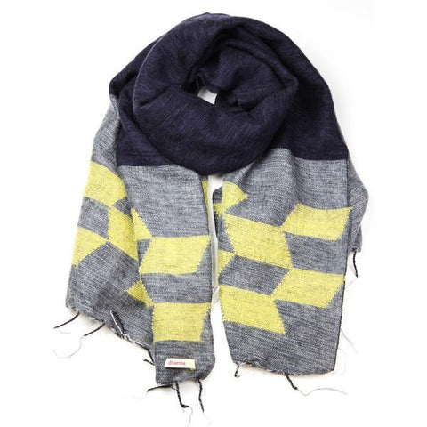 Himalayan Scarf with Unique Chevron Design