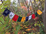 Velvet Om Mani Indoor Prayer Flags