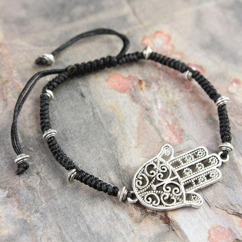 Divine Protection Bracelet with Hamsa