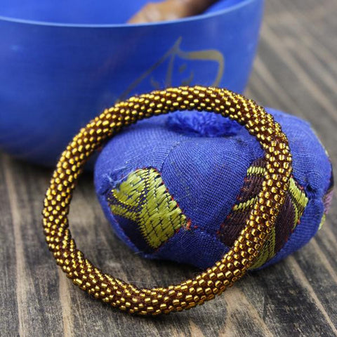 Earthquake Relief Beaded Bracelet in Gold