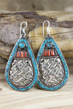 Endless Knot Traditional Tibetan Style Earrings