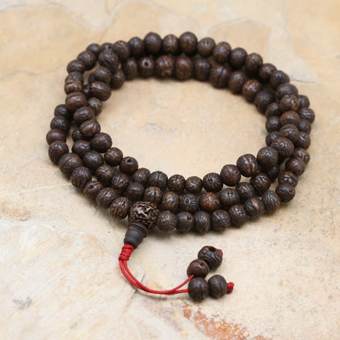 Mala Beads 108 Bead Dark Raktu Prayer Mala ML651
