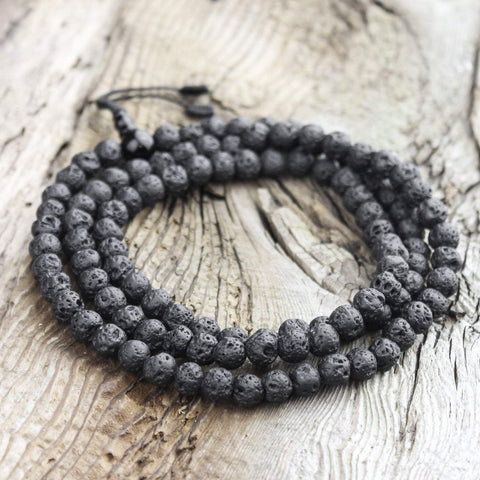 Mala Beads 108 Bead Stabilizing Lava Rock Mala ML591