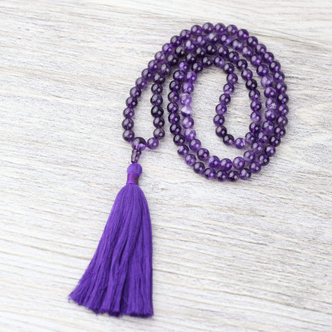 Mala Beads Amethyst Spiritual Growth Mala ML679