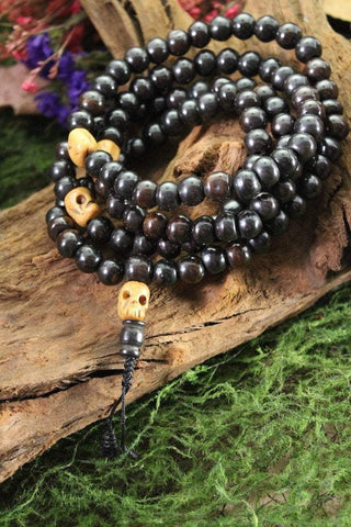 Mala Beads Default Bone and Skull Impermanence Mala ml088