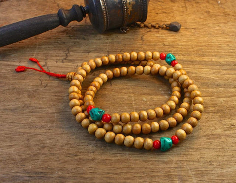 Mala Beads Default Natural Wood Tibetan Mala ML483