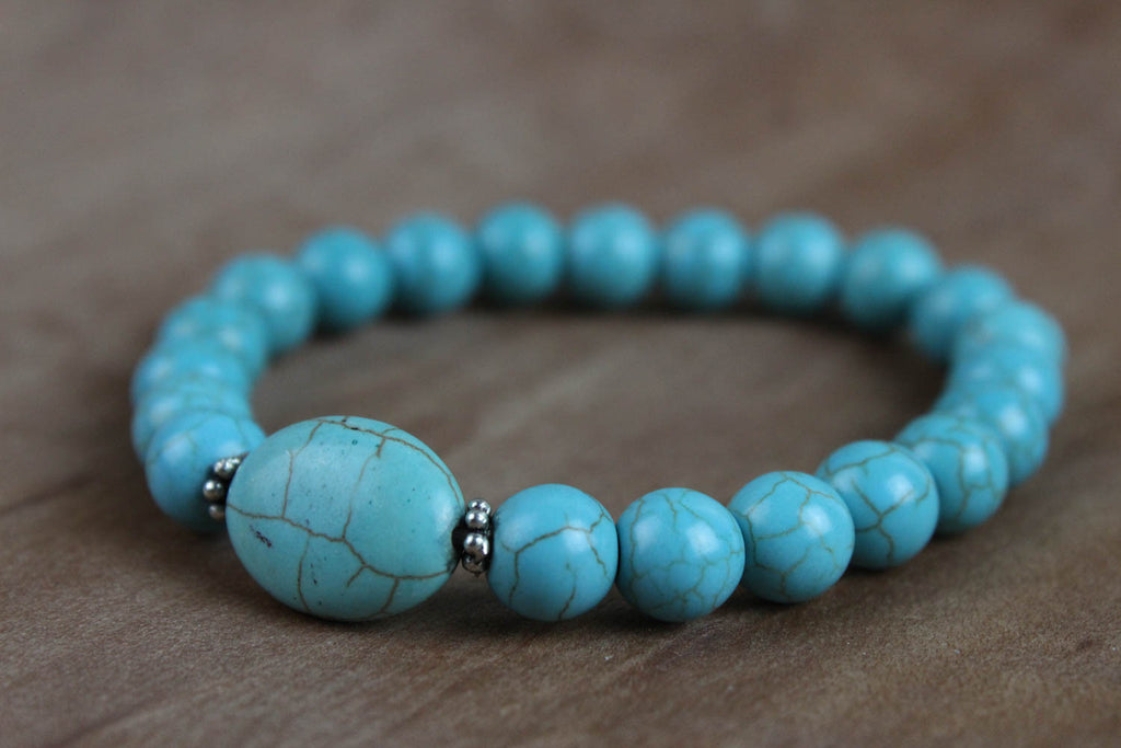Strength and Tranquility Turquoise Wrist Mala