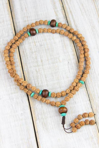 Rudraksha and Bodhi Seed Clarity and Concentration Mala