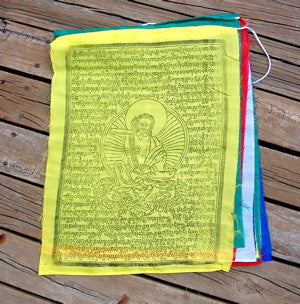 X-large Milarepa Prayer Flags, Set of 5