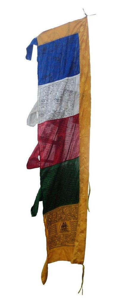 High Quality Silk Vertical  Pole  Prayer Flags
