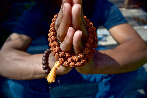 Light Colored Rudraksha Mala