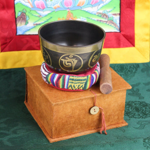 Buddha Eyes and Om Mani Singing Bowl Set