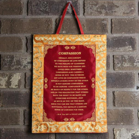 Dalai Lama 'Compassion' Wall Hanging