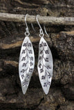 Organic Petals Silver Earrings