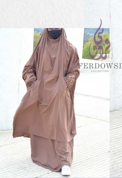 Jilbab 2 piece - Temple Brown