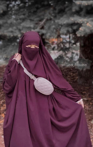 Jilbab One Piece - Burgundy