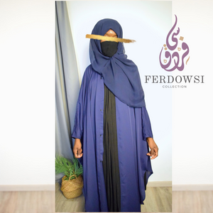 ABAYA KIZWA SET-NAVY BLUE