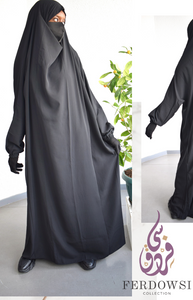 Jilbab One Piece -Pitch Black