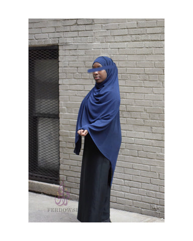 Maxi Chiffon Hijab- Royal Navy